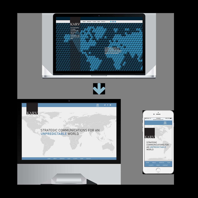 KARV website before & after
