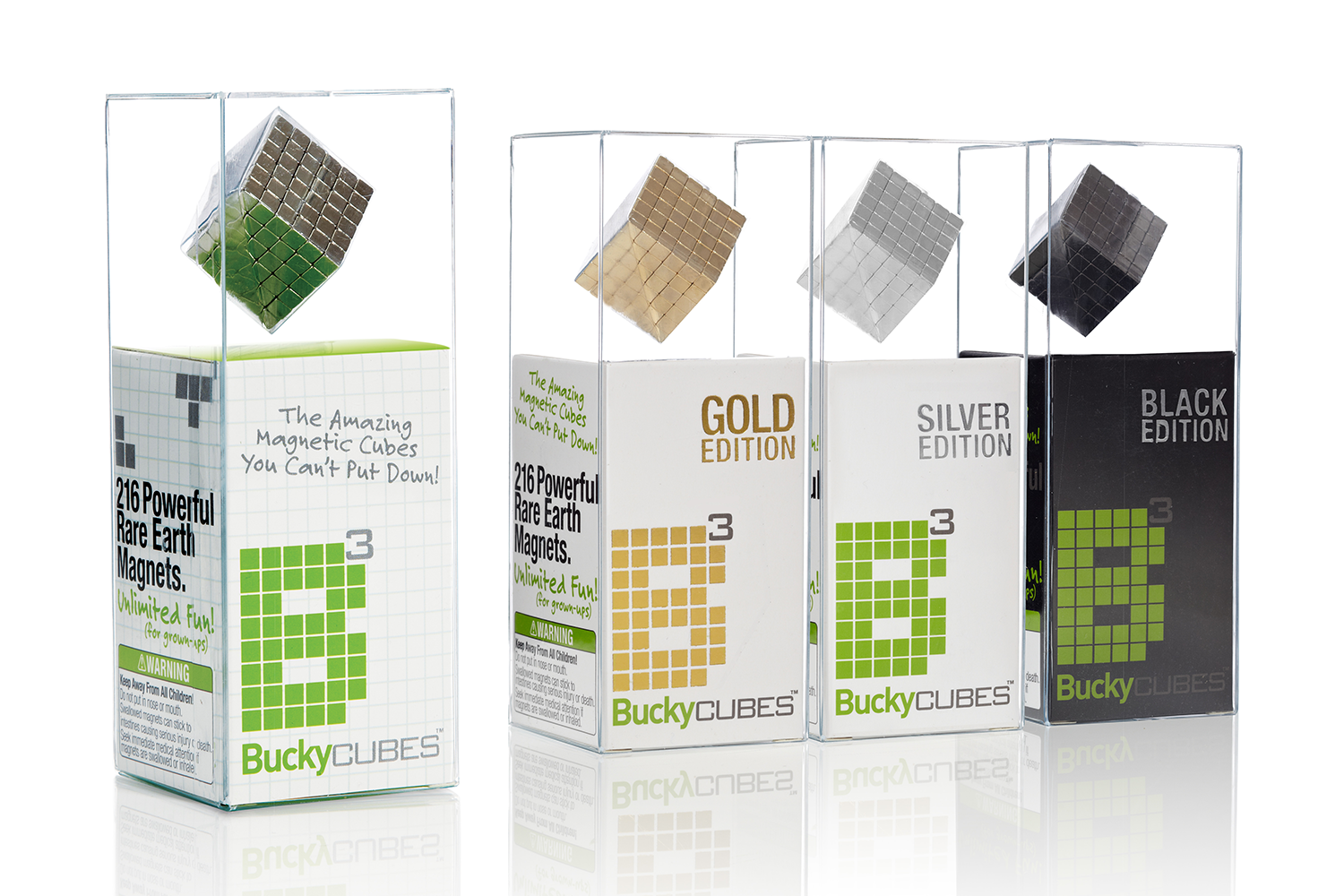 Buckycubes Packaging