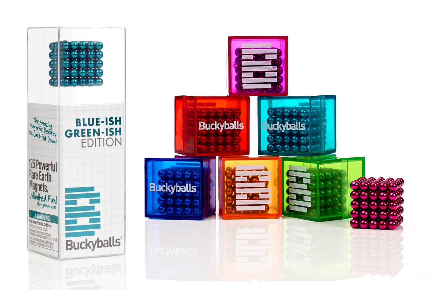 Buckyballs Chromatics Packaging
