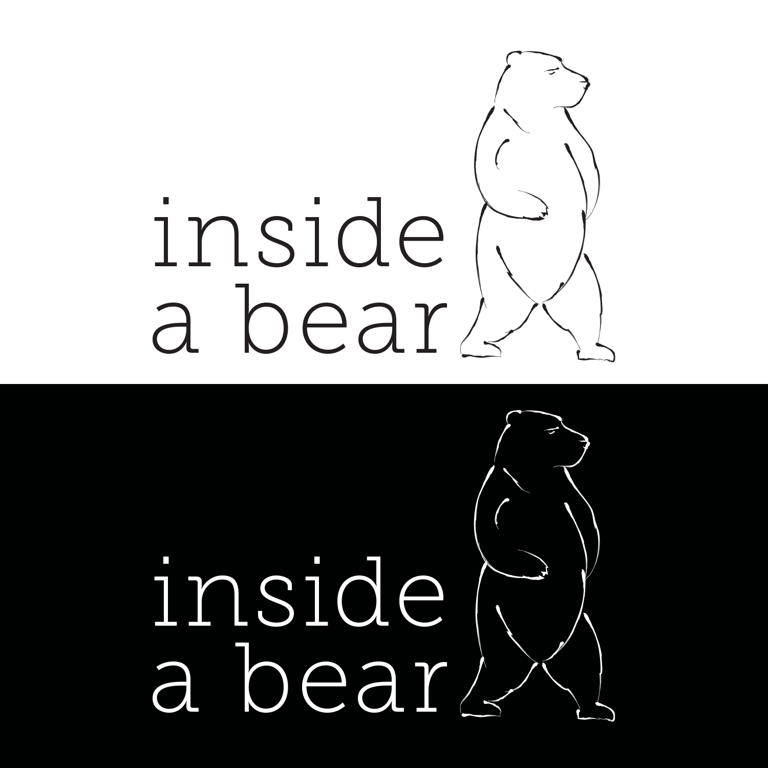 inside a bear Logo