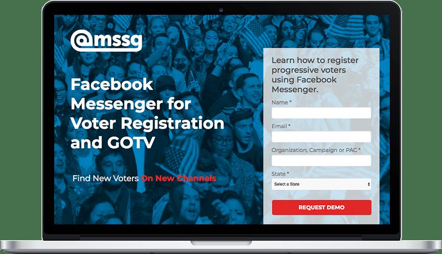 @mssg GOTV landing page